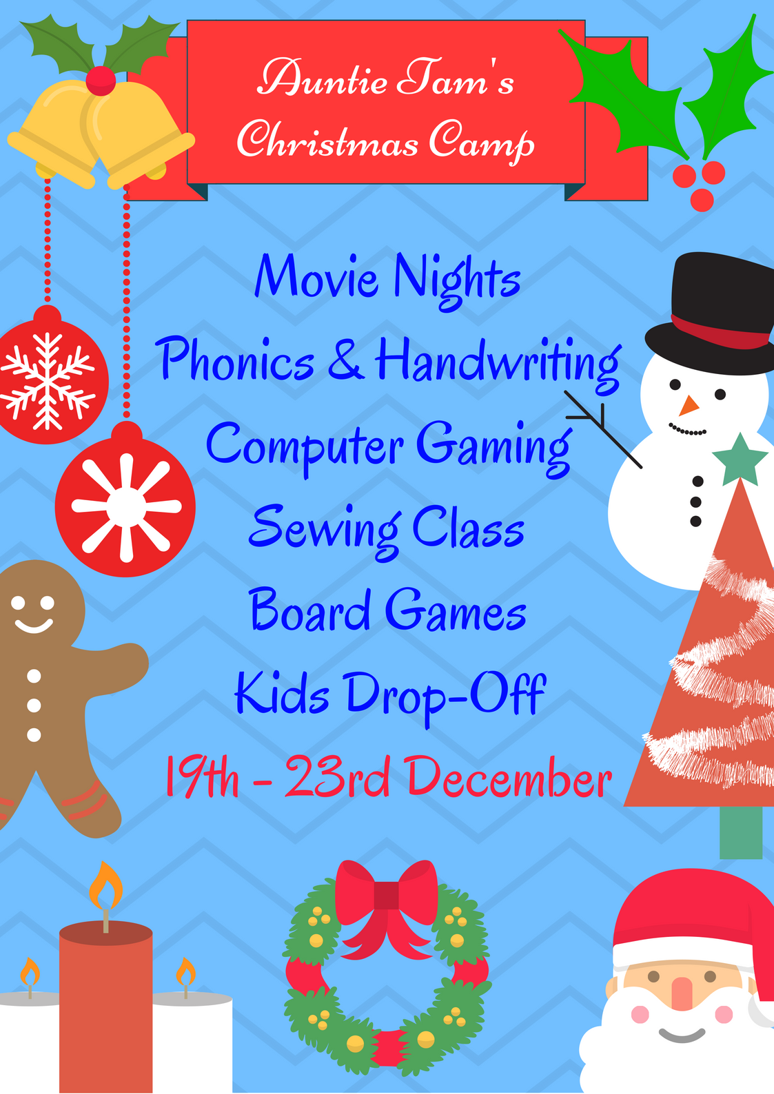 christmas-camp-poster-1 – Auntie Tam\'s Education Centre